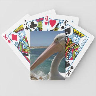 Pelikan, _Yorke_Peninsula, _Australia, _ Poker Karten