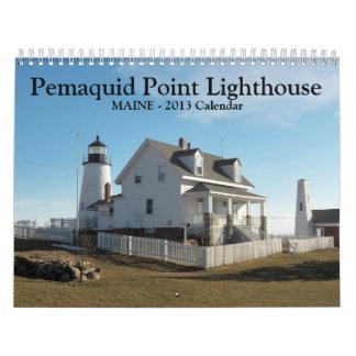 Pemaquid Punkt-Leuchtturm-Kalender Abreißkalender