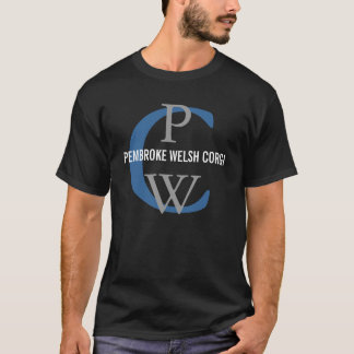 Pembroke-Walisercorgi-Monogramm-Entwurf T-Shirt
