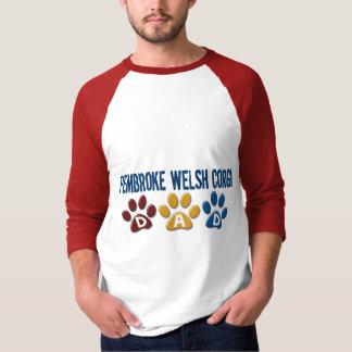 PEMBROKE-WALISERCORGI Vati-Tatzen-Druck 1 T-Shirt
