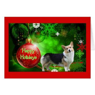 Pembroke-Walisercorgi-Weihnachtskarte frohe Karte