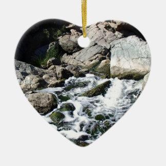 Penasquitos Wasserfall Keramik Herz-Ornament