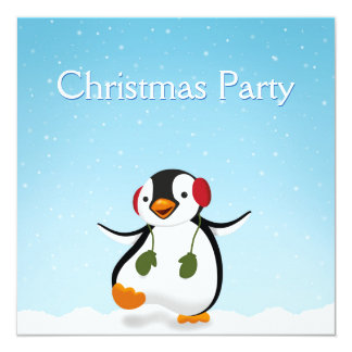Penguin-Winter-Illustration - Party Einladung
