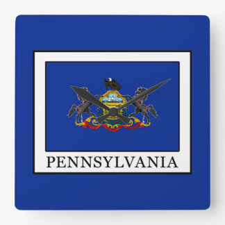 Pennsylvania Quadratische Wanduhr