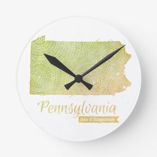Pennsylvania Runde Wanduhr