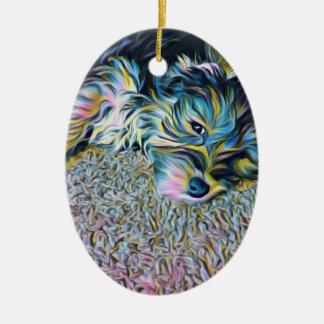 Penny die Morkie Verzierung Keramik Ornament