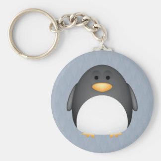 Penny-Pinguin Standard Runder Schlüsselanhänger