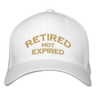 Pensionierte nicht abgelaufene gestickte Kappe