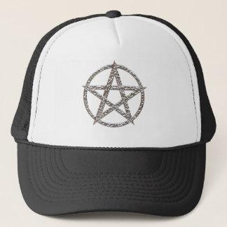 Pentagram gehämmerter Chrom-Hut Truckerkappe