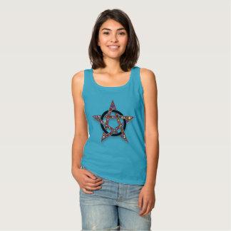 Pentagramm umkreiste Stern-Heide-oder Wicca Tanktop