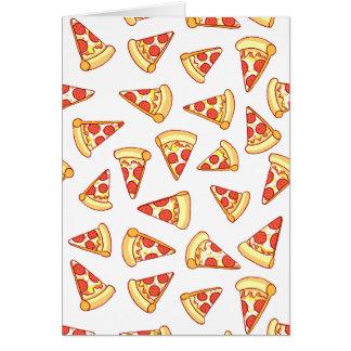Pepperoni-Pizza, die Muster-Gruß-Karte zeichnet Grußkarte