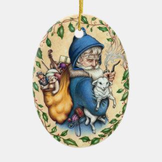 Pere Weihnachten VATER-WEIHNACHTSverzierung Keramik Ornament