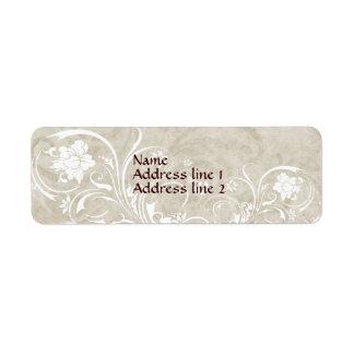 Pergament-Strudel-Adressen-Etiketten Kleiner Adressaufkleber