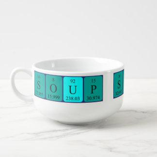 """Periodische Tabellen-""""Suppen-"""" Suppen-Tasse Große Suppentasse"""