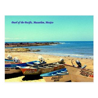 Perle des Pazifiks, Mazatlan Mexiko Boote Postkarte
