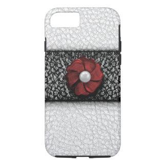 Perlen-Blume und Spitze iPhone 8/7 Hülle