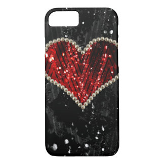 Perlen-Herz iPhone 8/7 Hülle