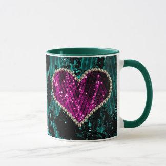 Perlen-Herz Tasse