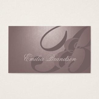 Perlen-kundenspezifisches Monogramm-coole Visitenkarten