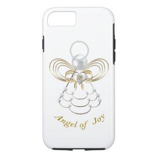 Perlen und Gold - metallischer Weihnachtsengel der iPhone 8/7 Hülle