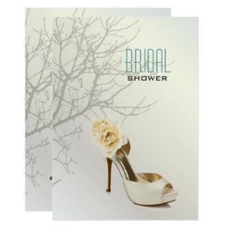 Perlen-weißes Liebe-Vogel-Braut-Schuh-Brautparty Karte
