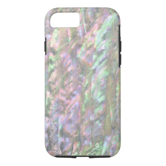 PERLMUTTdruck Rosa-Grün iPhone 7 Hülle