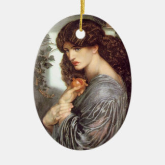 Persephone - Verzierung #2 Ovales Keramik Ornament