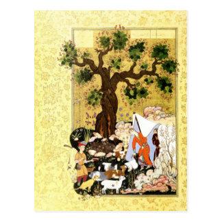 Persische Miniatur: Majnun in der Verkleidung Postkarte