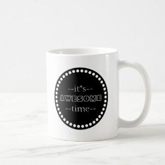 Personalisiert ist es fantastisches Zeit-Schwarzes Tasse