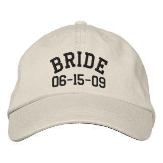 Personalisierte Braut gestickter Hut Bestickte Kappe