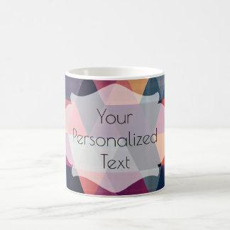 Personalisierte bunte Muster-Tasse Tasse