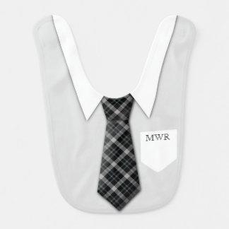 Personalisierte der Anzugs-Krawatten-lustiges Babylätzchen