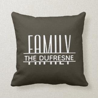 Personalisierte Familie u. Streifen kakifarbig Kissen