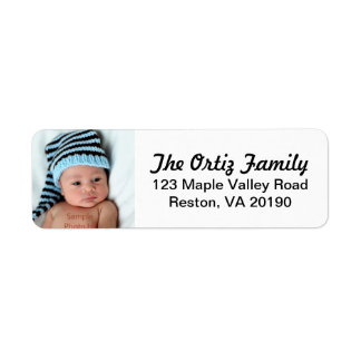 Personalisierte Foto-Adressen-Etiketten Rücksendeetiketten