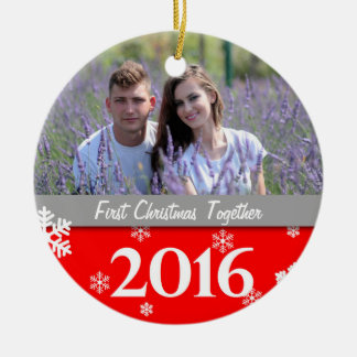 Personalisierte Foto-Weihnachtsbaum-Verzierung Keramik Ornament