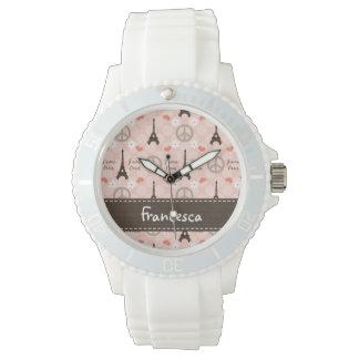 Personalisierte FriedensLiebe Paris Uhren