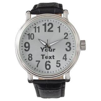 Personalisierte große Zahl-Uhren für Männer Handuhr