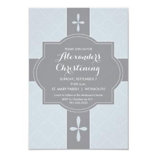 Personalisierte Jungen-Taufe, Taufe-Einladung 8,9 X 12,7 Cm Einladungskarte