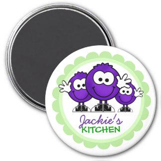 Personalisierte Küchen-Magneten Runder Magnet 7,6 Cm