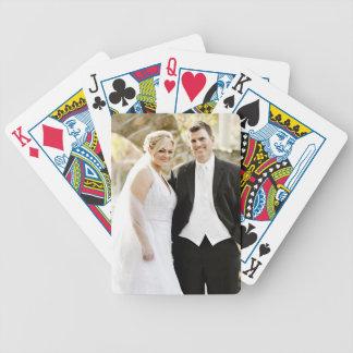 Personalisierte kundenspezifische Foto-Hochzeit Bicycle Spielkarten