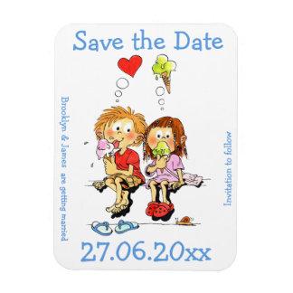 Personalisierte lustige Save the Date Magneten Eckige Magnete