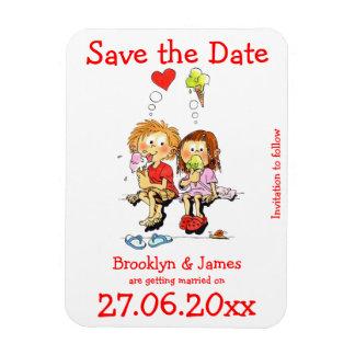 Personalisierte lustige Save the Date Magneten Flexibler Magnet