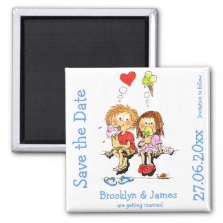 Personalisierte lustige Save the Date Magneten Quadratischer Magnet