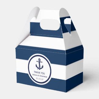 Personalisierte Marine-Blau-SeeGastgeschenk Geschenkschachtel