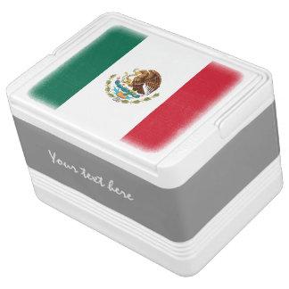 Personalisierte mexikanische Flagge kann coolerer Kühlbox