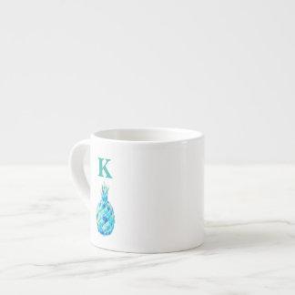 Personalisierte Monogramm-Tasse mit Espresso-Tassen