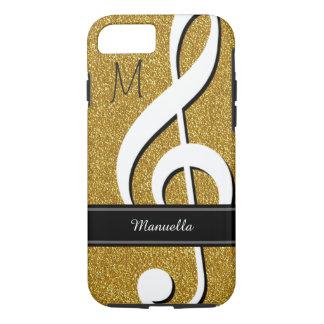 personalisierte musikalische Anmerkung des Chic iPhone 8/7 Hülle