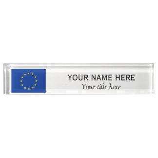 Personalisierte Name und Titel europäische Schreibtischplakette
