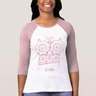 Personalisierte niedliche Eulen-lange T-Shirt