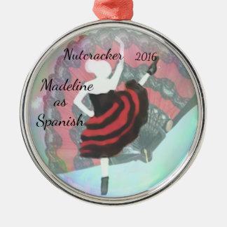 Personalisierte Nussknacker-Verzierung - Spanisch Silbernes Ornament